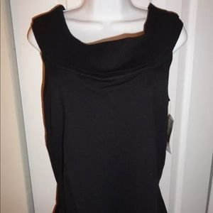 Rafaella Black Cowl Neck Sleeveless Sweater Size L